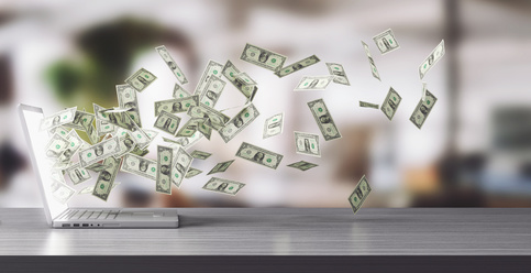 Dollari volano computer spendere comprare
