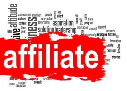 Affiliate word cloud