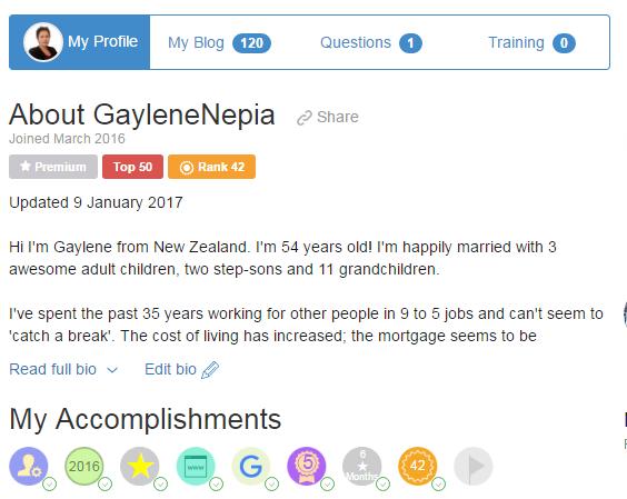 Gaylene Nepia WA Profile 16 Jan 2017
