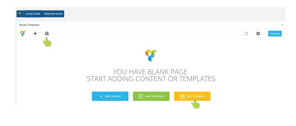 Templates - visual composer