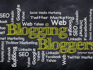 Blogging chalkboard