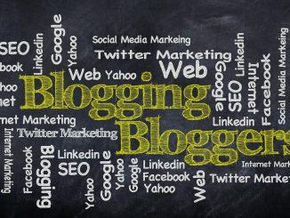 Blogging chalkboard