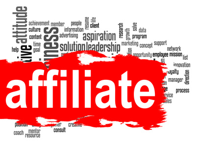 Affiliate word cloud